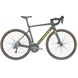 Vélo course 700 carbone - SCOTT 2022 Addict 40 - Vert foncé décor jaune