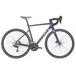 Vélo course 700 alu - SCOTT 2022 Speedster 10 - Bleu nuit décor argent