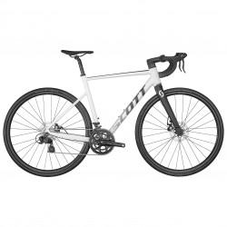 Vélo course alu 700 - SCOTT 2022 Speedster 50 - Blanc décor gris anthracite