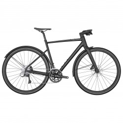 Vélo course fitness 700 alu - SCOTT 2022 Metrix 30 EQ - Noir mat décor gris brillant