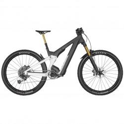 Vélo électrique VTT 29p carbone - SCOTT 2022 Patron eRide 900 Tuned 750 - Noir et blanc décor blanc à motifs