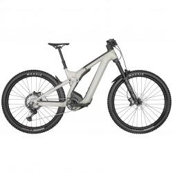 Vélo électrique VTT 29p alu - SCOTT 2022 Patron eRide 910 750 - Blanc cassé décor anthracite