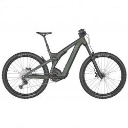 Vélo électrique VTT 29p alu - SCOTT 2022 Patron eRide 920 Black 750 - Noir métallisé décor blanc