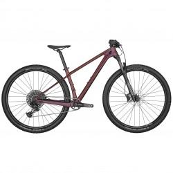 Vélo VTT femme 29p carbone - SCOTT 2022 Contessa Scale 920 - Mauve métallisé décor noir