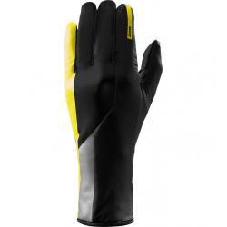 Gants longs MAVIC hiver Vision noir décor jaune fluorescent