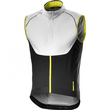 Gilet sans manches MAVIC Vision H2O blanc décor noir et jaune