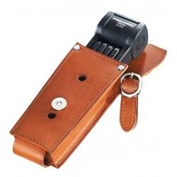 Antivol TRELOCK pliable Trego Manufaktur FS300/85 gris support cuir marron