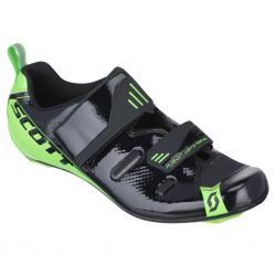 Chaussures SCOTT triathlon Tri Pro noir verni décor vert fluo