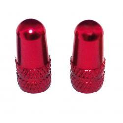 Bouchons de valve XLC alu Presta rouge