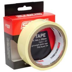 Fond de jante 33mm x 9.14m - NOTUBES Rim Tape - jaune : autocollant & étanche