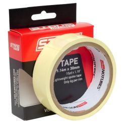 Fond de jante 30mm x 9.14m - NOTUBES Rim Tape - jaune : autocollant & étanche