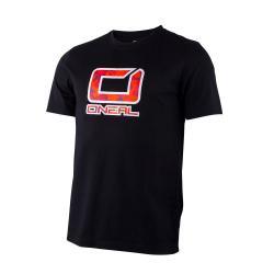 T-shirt manches courtes ONEAL Slickrock noir décor rouge