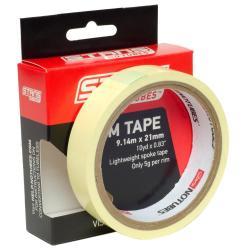 Fond de jante 21mm x 9.14m - NOTUBES Rim Tape - jaune : autocollant & étanche