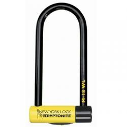 Antivol KRYPTONITE U NewYork M18 WL LS 16 à clef jaune et noir