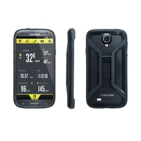 Etui téléphone TOPEAK support Samsung Galaxy S4 RideCase noir
