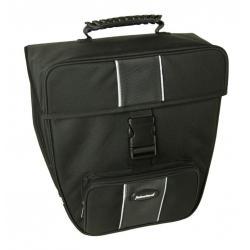 Sacoche arrière sur porte-bagage - HABERLAND Grande 16 - Noir