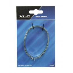 Pinces à pantalon XLC acier nickel Ovale Argent
