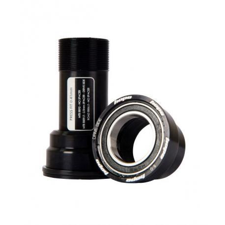Cuvettes pédalier+rlts HOPE intégrées vtt PF41 Inox noir d41x24mm roulements inox