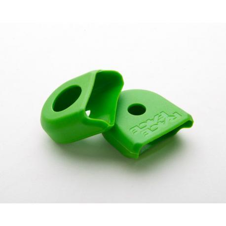 Protection manivelle RACEFACE caoutchouc Etroite Verte pour bout de manivelles Alu de pédalier