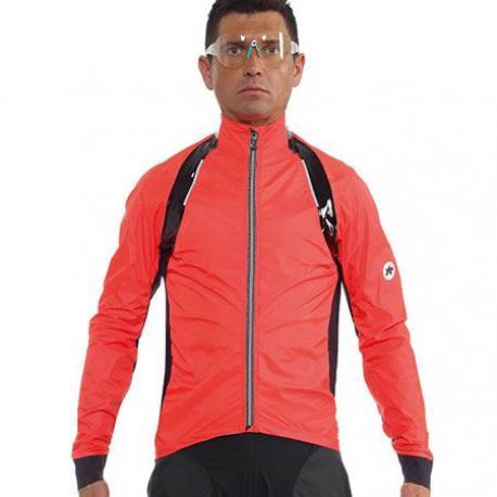 Veste imperméable ASSOS rS.sturmPrinz Evo rouge orange lolly XL