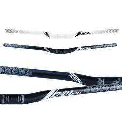 Cintre SB3 alu vtt relevé Flowy En 740 31.8 noir décor blanc