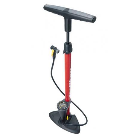 Pompe à pied TOPEAK acier JoeBlow Max-HP rouge