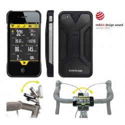 Etui téléphone TOPEAK support iPhone 4/4S RideCase noir