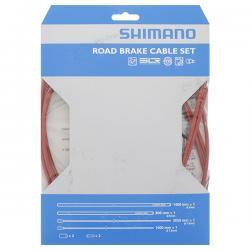 Cables+Gaine SHIMANO frein route PTFE Rouge avant et arrière