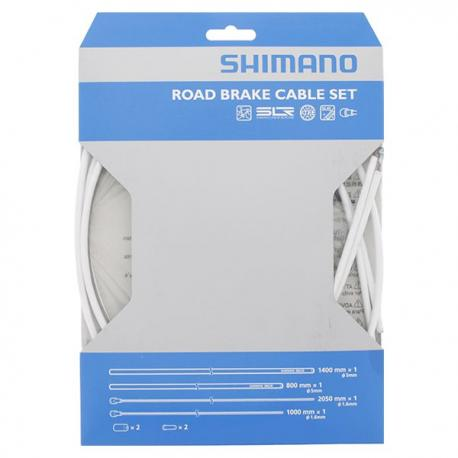 Cables+Gaine SHIMANO frein route PTFE Blanche