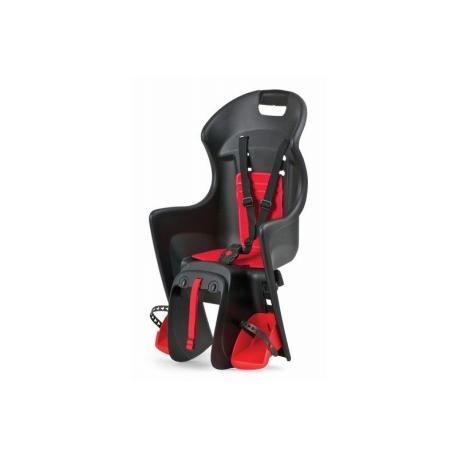 Porte-bébé POLISPORT arrière sur porte-bagage Boodie noir décor rouge