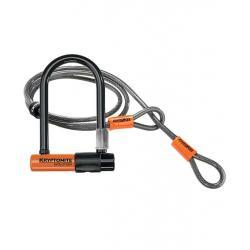 Antivol U + câble - KRYPTONITE U + câble Evolution Mini 7 + Flex - à clef - orange et noir