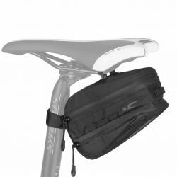 Sacoche de selle SYNCROS HiVol 900 noire - 420D+210D - fixation à clip sur fil de selle + velcro sur tige - L21cm H10cm larg
