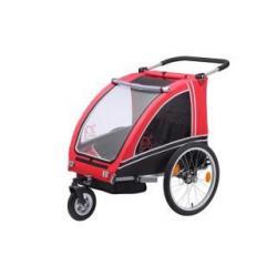 Remorque enfants VANTLY Buggy 2 places rouge décor noir
