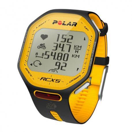 Cardiofréquencemétre + compteur POLAR RCX5 Tour de France Bike jaune