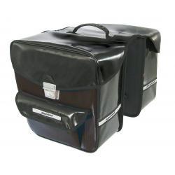 Sacoche HABERLAND arrière double cavalière Etanche rigide noir sur porte-bagage