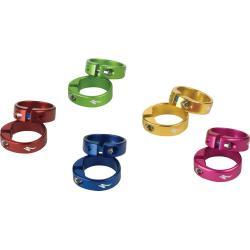 Colliers de fixation de poignées de guidon SPECIALIZED 2014 Grip locking ring bleu foncé anodisé - compatibles uniquement