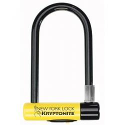 Antivol U - KRYPTONITE NewYork Standard 16 - à clef - jaune et noir