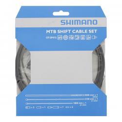 Cables+Gaine SHIMANO dérailleur vtt inox SIS MTB SP41 noir 4mm