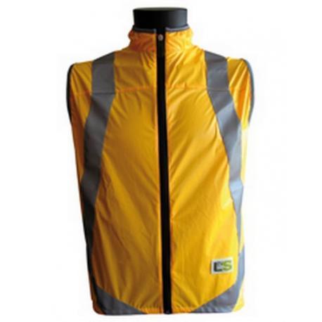 Gilet sans manches L2S sécurité - VisioLight orange fluo - réfléchissant