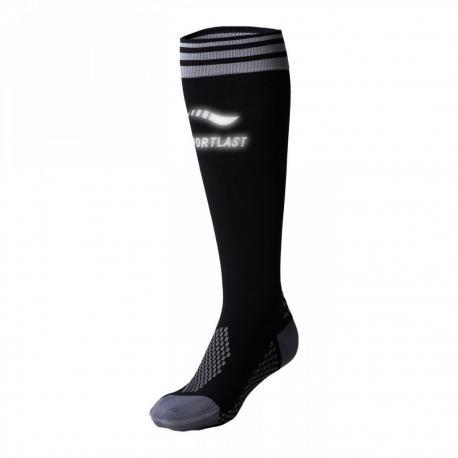 Chaussettes montantes MEDILAST Pro Energy Running noir décor blanc