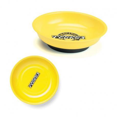 Assiette cuvette PEDROS magnétique de nettoyage Magnetic Parts Tray jaune