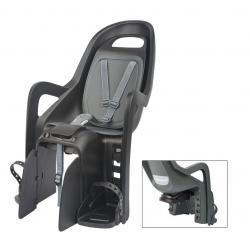 Porte-bébé POLISPORT arrière sur porte-bagage Groovy Maxi VAE anthracite décor gris