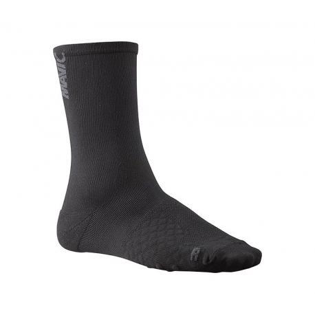 Chaussettes MAVIC Comète noir décor gris asphalte
