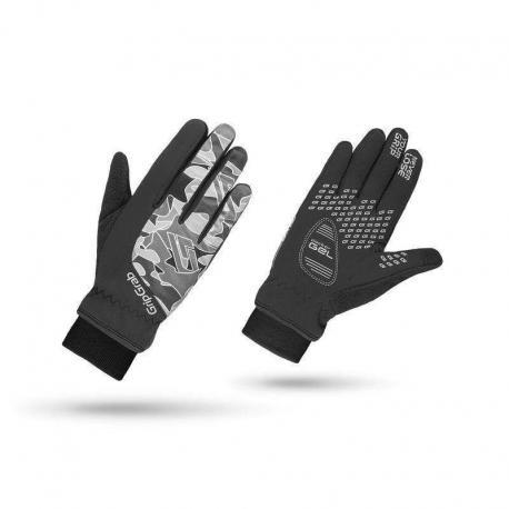 Gants longs GRIP GRAB enfant hiver Rebel Winter Junior noir décor camouflage gris
