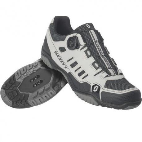 Chaussures SCOTT vtt Crus-R Boa Reflective gris argent décor noir