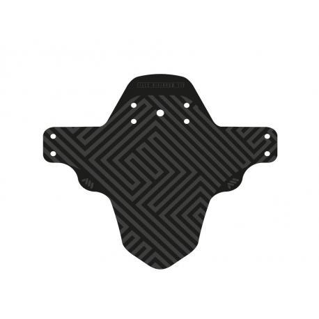 Garde-boue ALLMOUNTAINSTYLE pvc vtt avant Standard noir décor Maze gris