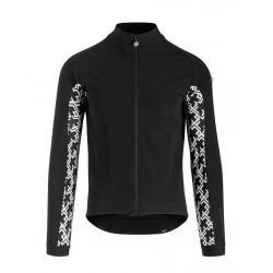 Veste thermique ASSOS hiver Mille GT Ultraz Winter noir décor logo blanc