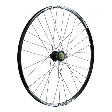 Roue à pneu 29p HOPE vtt Tech XC R115/Hoops Pro 4 29 Boost 148 SH noire décor blanc arrière
