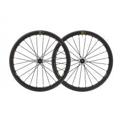 Roues à pneu 700 MAVIC gravel Allroad Elite Disc CL 30 UST ID360 700 SH noire décor gris