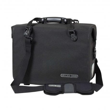 Sacoche arrière latérale - ORTLIEB Office Bag High Visibility QL3.1 F70952 - Noir